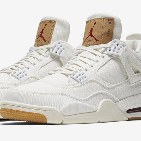 Levi's X Air Jordan 4 White Denim