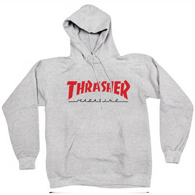 Толстовка Thrasher Fire Magazine Red Gray Hood
