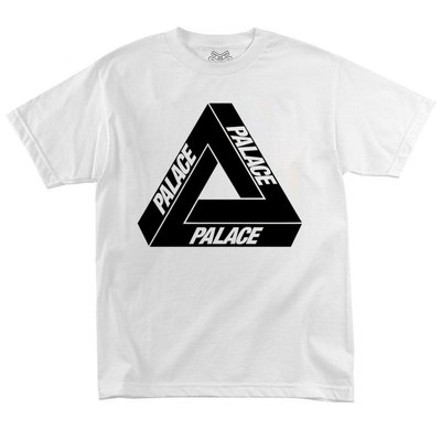 Футболка Palace White with Black Triangle