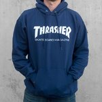 Толстовка Dark Blue Thrasher Skate Mag Hood фото 3