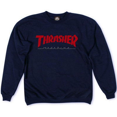 Толстовка Dark Blue Thrasher Magazine Red