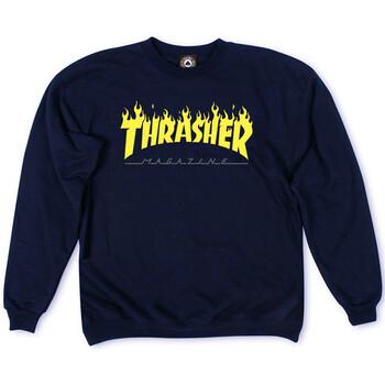Толстовка Dark Blue Thrasher Fire Magazine Yellow