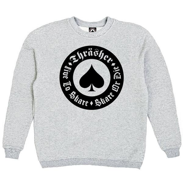Толстовка Gray Thrasher Live To Skate