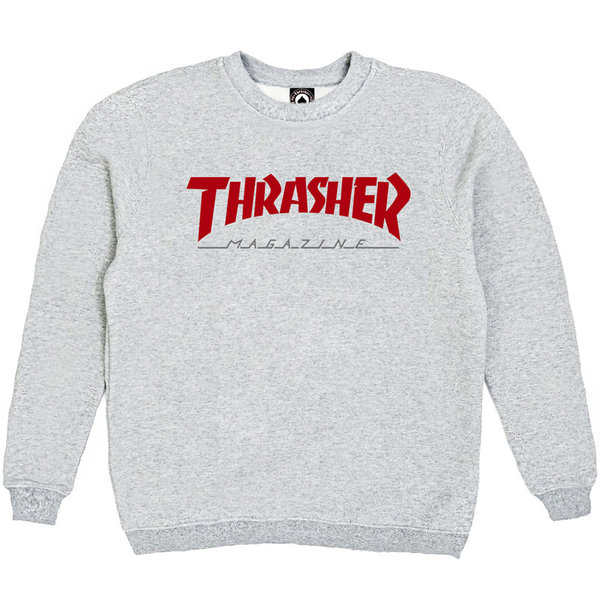 Толстовка Gray Thrasher Magazine Red
