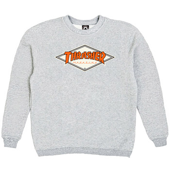 Толстовка Thrasher Magazine Gray with Orange Rhombus