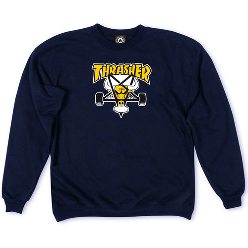 Толстовка Thrasher Dark Blue Yellow Bull