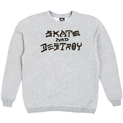 Толстовка Gray Thrasher Skate And Destroy