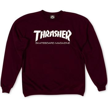 Распродажа Толстовка Thrasher Skateboard Magazine Vinous White Classic Logo