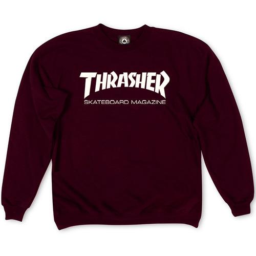 Толстовка Thrasher Skateboard Magazine Vinous White Classic Logo