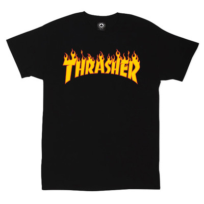 Футболка Thrasher Black Fire