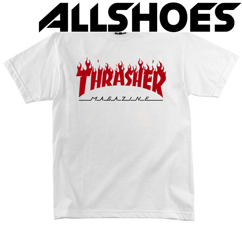 Футболка Thrasher Magazine White with Red Flame