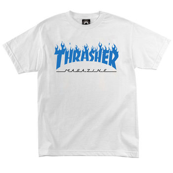 Футболка Thrasher Magazine White with Blue Flame