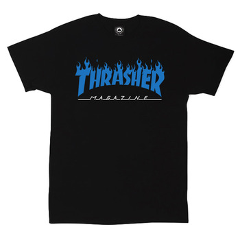 Футболка Thrasher Magazine Black with Blue Flame