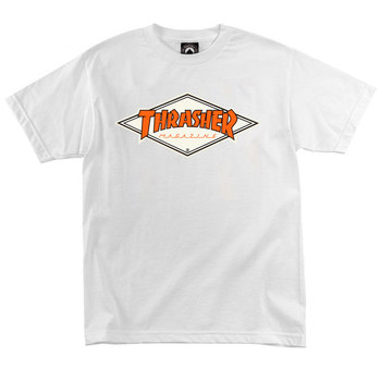 Футболка Thrasher Magazine White with Orange Rhombus