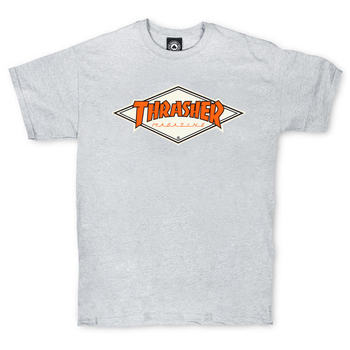 Футболка Thrasher Magazine Grey with Orange Rhombus