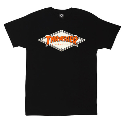 Футболка Thrasher Magazine Black with Orange Rhombus