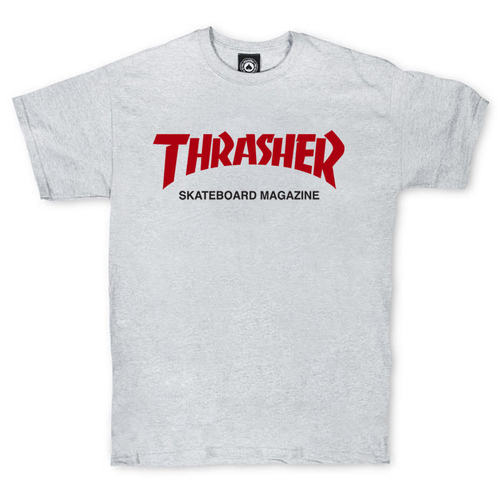 Футболка Thrasher Magazine Grey with Red/Black Label