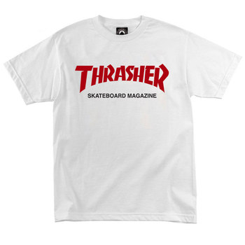 Футболка Thrasher Magazine White with Red/Black Label