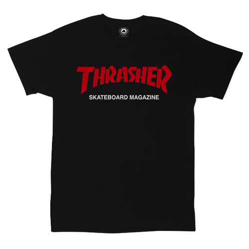 Футболка Thrasher Magazine Black with Red/White Label