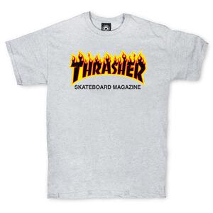 Футболка Thrasher Skateboard Magazine Grey Fire