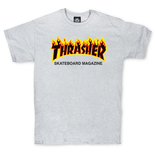 Футболка Thrasher Skateboard Magazine Grey Fire