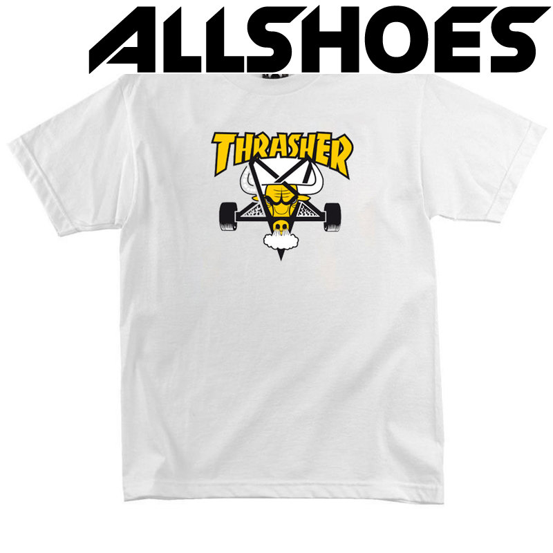 Футболка Thrasher White Yellow Bull