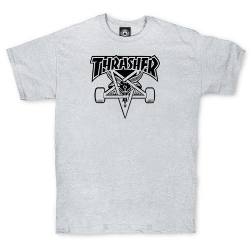 Футболка Thrasher Magazine Skateboard Grey/Black 666