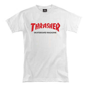 Футболка Women's White Thrasher Skateboard Magazine Red