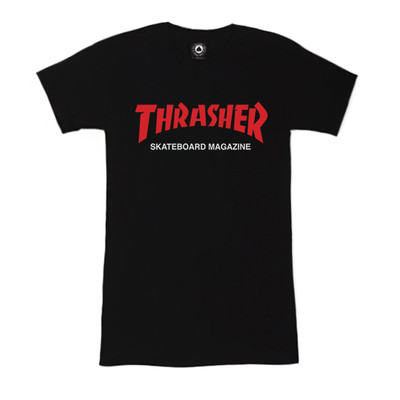 Футболка Women's Black Thrasher Skateboard Magazine Red