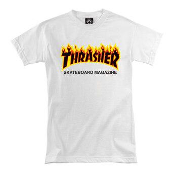 Thrasher Women's White Classic Fire