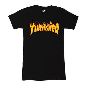 Thrasher Women's Black Classic Fire