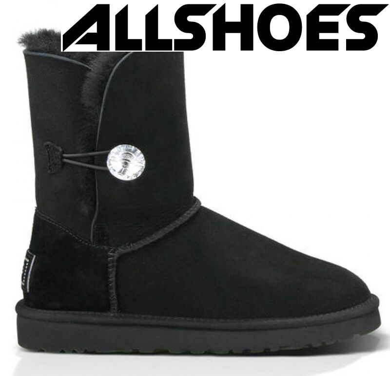 UGG Australia Bailey Button Bling Black