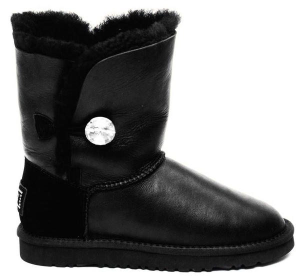 UGG Australia Bailey Button Bling Metallic Black