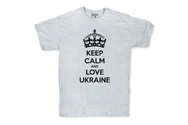 Футболка KEEP CALM and LOVE UKRAINE Grey
