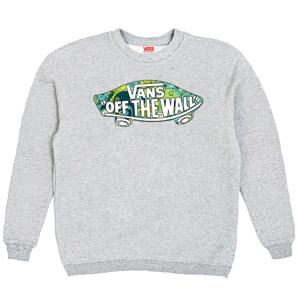Толстовка Gray Vans Skateboard Blue Yellow
