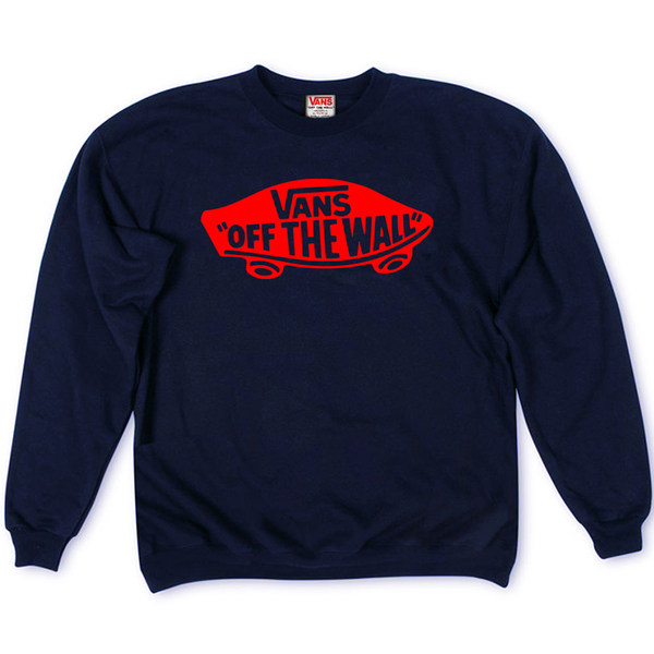 Толстовка Dark Blue Vans Skateboard Red