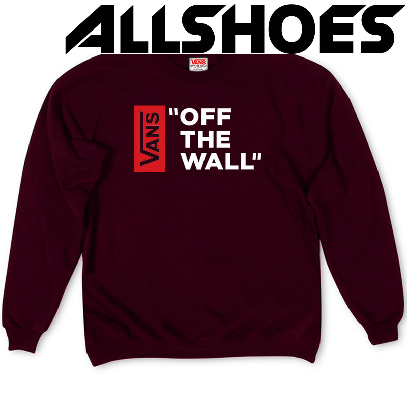 Толстовка Vinous Vans Off The Wall White Red