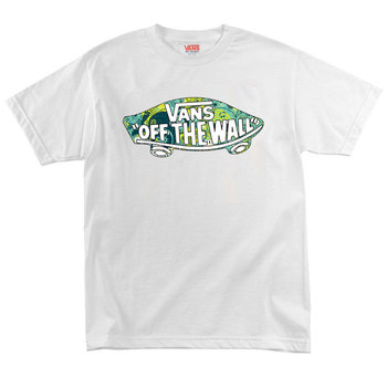 Футболка White Vans Off The Wall Abstract Green