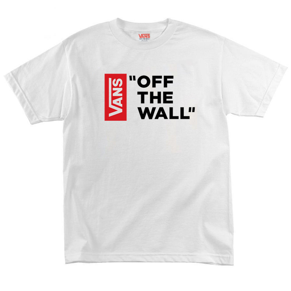 Футболка Vans Off The Wall Black Red Vertical
