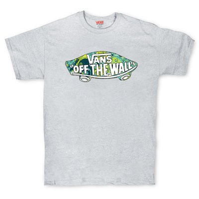 Футболка Gray Vans Off The Wall Abstract Green