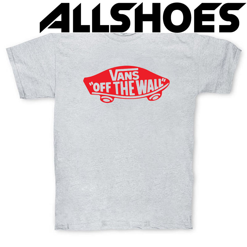 Футболка Gray Vans Off The Wall Skateboard Classic Red