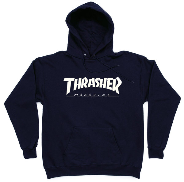 Толстовка Thrasher Magazine Classic Dark Blue Hood