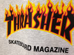 Толстовка Thrasher Gray Fire Hood фото 4