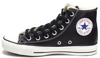Converse All Star High Leather Winter Black